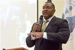 Pittsburgh Public Schools Superintendent Anthony Hamlet speaks at a community input forum in East Liberty earlier this summer.