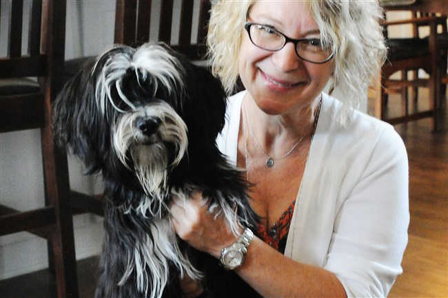 Ilona Segedy of Pine with Ludmila, her Tibetan terrier.