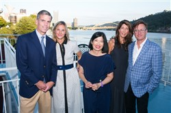 Riverlife's Party at the Pier: From left, Mike and Ramsey Lyons, president and CEO Vivien Li, Caryn Rubinoff and Craig Dunham.