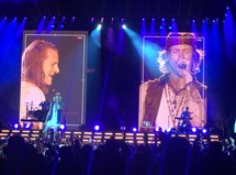 Florida Georgia Line's Tyler Hubbard and Brian Kelley at the First Niagara Pavilion.