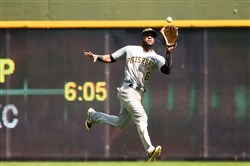 Pirates manager Clint Hurdle would be a good center fielder, but he isn't certain he could find anyone else to play the cavernous left field in PNC Park as well as Marte.