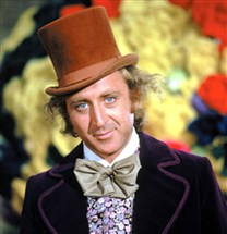 "Gene Wilder as Willy Wonka in the 1971 film ""Willy Wonka and the Chocolate Factory,"" based upon the book by R. Dahl."