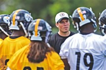Danny Rooney, the son of Steelers president Art Rooney II, worked as a scout and completed a two-year internship at the NFL offices in New York before becoming an assistant coach with the Steelers.