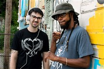 Hip-hop duo Junk Foods: DJ Thermos and Billy Pilgrim.
