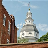 The dome above the State House in Annapolis, Md., dates to the 1780s.