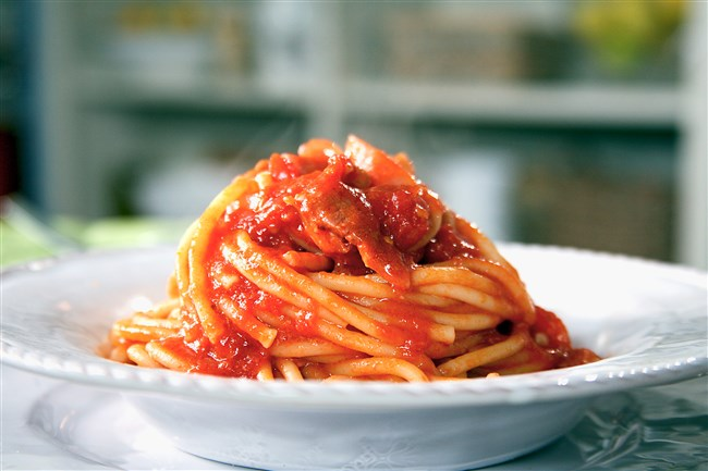 Lidia's Pitttsburgh is serving Bucatini all Amatriciana to help earthquake victims in Amatrice, Italy.