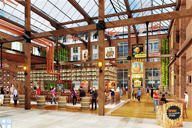 The National Beer Museum Development Group, LLC, commissioned these drawings to show what Brew, The Museum of Beer, might look like.