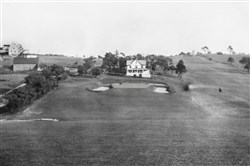 St. Clair Country Club has been around a long time, as evidenced by this aerial shot of the old 18th green with the clubhouse in the background, taken in 1928.