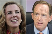 Katie McGinty and Pat Toomey