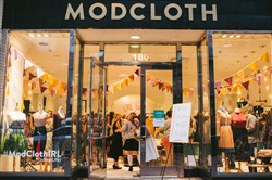 In recent years, ModCloth has opened temporary pop-up shops across the country, including one in Pittsburgh and the one shown here in Denver. The company, which has been acquired by Wal-Mart's Jet.com, has one permanent store in Austin, Texas.