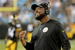"Steelers head coach Mike Tomlin  —  ""let past history be past history."""