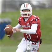 Quarterback Dillon Buechel, a Montour graduate, leaves Duquesne with the most passing yards in school and Northeast Conference history.