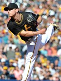 Chad Kuhl pitches to a Cardinals player during the first inning at PNC Park on September 5.