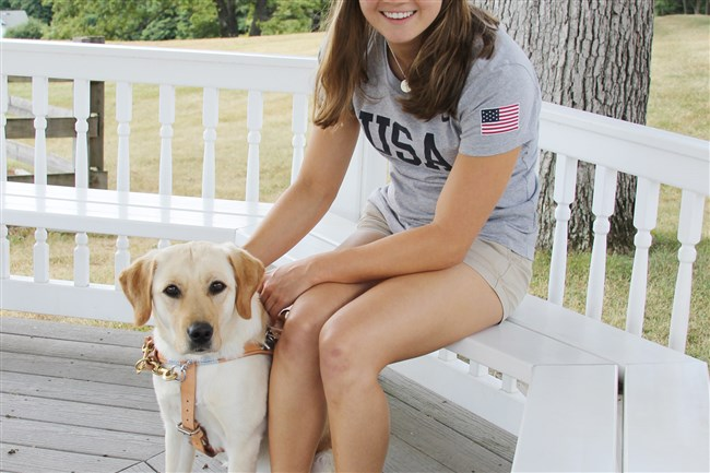 Becca Meyers and her Seeing Eye dog Birdie are competing in the Paralympics in Rio.