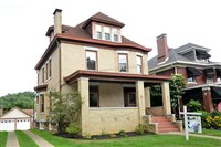 This six bedroom, three bath home in Crafton retains many original features, it was recently restored.