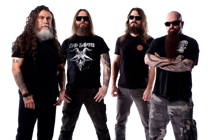 Slayer-1 Slayer -- Tom Araya, left, Gary Holt, Paul Bostaph and Kerry King -- will play Stage AE tonight with Anthrax.