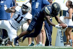 Pitt's Jordan Whitehead had 31 tackles heading into Saturday's game against Marshall. He did not play against the Thundering Herd.