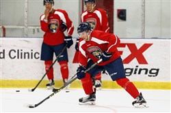 Former Robert Morris hockey player Zac Lynch has moved onto the Florida Panthers organization.