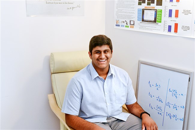 Rohan Chalasani, 16, of O'Hara Twp., was one of ten national awardees of the President's Environmental Youth Award for 2015. He won for a study he did on the Impact of energy consumption reduction on household carbon footprints, which he did when he was 12.