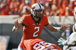 Oklahoma State quarterback Mason Rudolph will challenge a Pitt secondary that struggled a bit against Penn State's Trace McSorley last week.