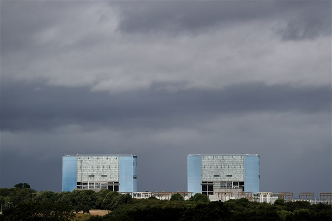 This July 28 file photo shows Hinkley Point A Magnox nuclear power station in Hinkley Point, Somerset, southwest England.
