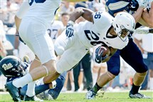 Penn State's Saquon Barkley is averaging 79.3 rushing yards per game, 10th in the Big Ten.