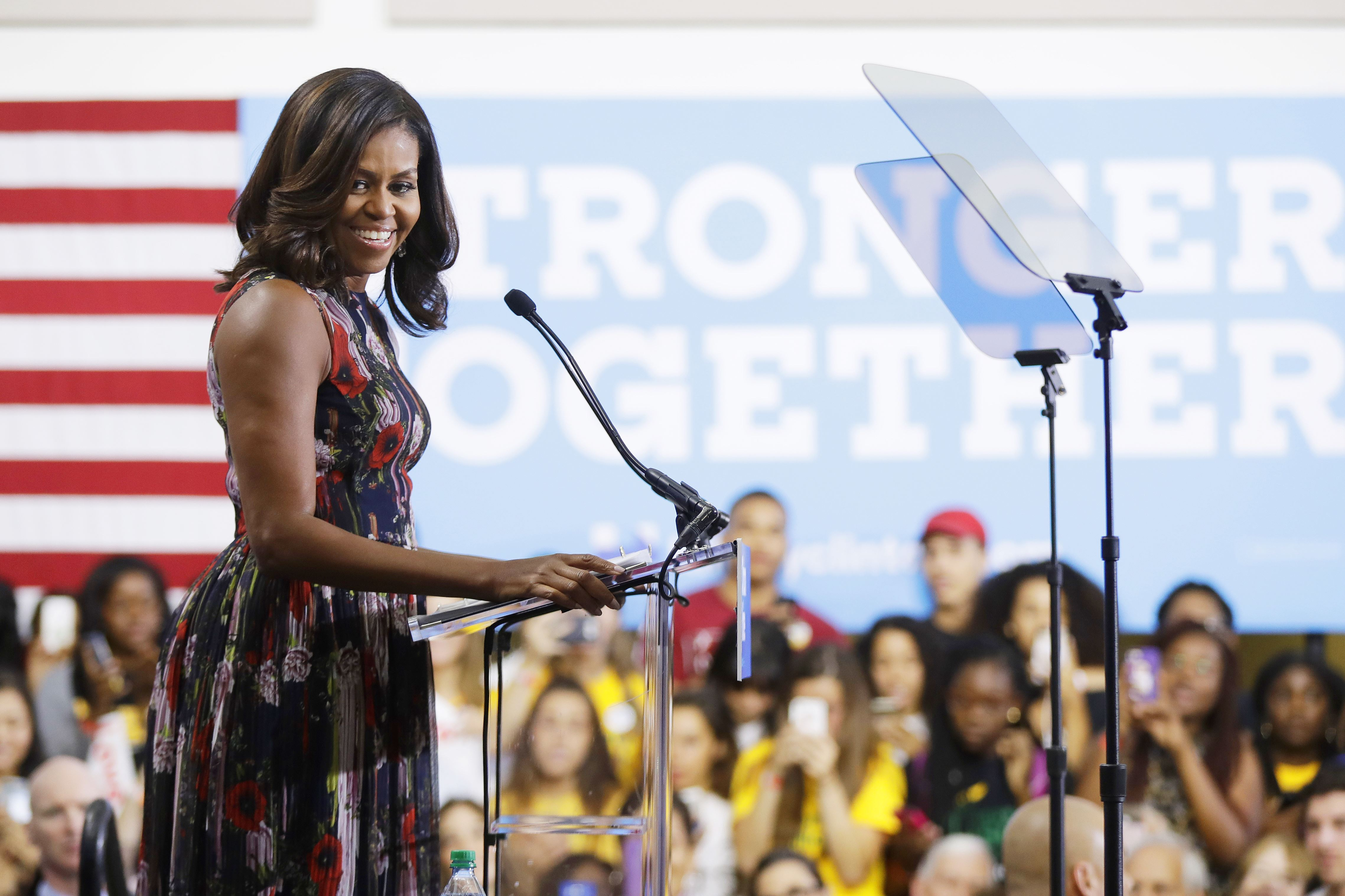 Michelle Obama says America 'needs an adult' in White House