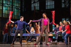 "The national tour of ""Kinky Boots,"" with Adam Kaplan as Charlie Price and J. Harrison Ghee as Lola, is to the Benedum Center Sept. 20-25."