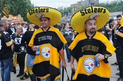 Cesar Ramos and Salvador Acevedo made the trip from Mexico with other family members to watch Steelers take on the Bengals on Sept. 19, 2016, at Heinz Field.