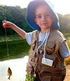 During the state's July 4 Fish For Free Day, while at Canonsburg Lake with his dad and grandpa, Noah Schulte, 5, of Bethel Park caught his first fish. The bluegill went for a worm-and-bobber rig.