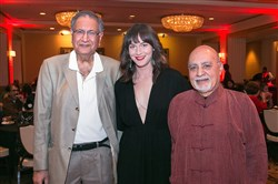 Dr. Vijay Bahl, left, with Katie Altieri and Harish Saluja