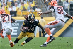 DeAngelo Williams will be rejoined in the Steelers' back field by Le'Veon Bell when the latter returns from suspension next week.