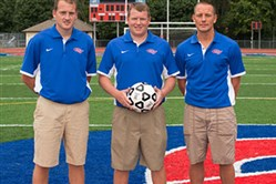 MacKenzie family brothers, from left, Travis, Garrett and Derek, all coach soccer at Chartiers Valley.