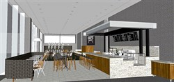 A rendering of the Cafe Carnegie, which will be open to the public while remaining inside the museum.