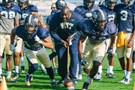 Pitt defensive line coach Tom Sims during practice at Pitt's Southside training facility last September.