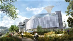 Artist rendering of a new $21 million Science Pavilion on the east side of the Carnegie Science Center.