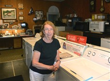 "Virginia Vinski-Fischer owns Vinski Brothers appliances in Etna with her husband, John Fischer. The business has been in her family for 70 years.""We've had some of the same customers for 50 years,"" she said."