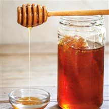 Honey, served with apple slices or as the sweetener for a moist cake, is a symbolic food for the holiday of Rosh Hashanah, and expresses wishes and hopes for a sweet New Year.