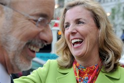 Katie McGinty with Gov. Tom Wolf