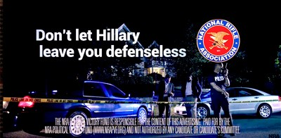 SPIN CONTROL: NRA ad claims Clinton would take away guns