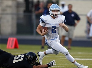 Central Valley quarterback Nico Battisti helped Central Valley beat Quaker Valley last year, but a knee injury will keep Battisti out of Friday's Game of the Week against Quaker Valley.