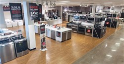 J.C. Penney major appliance showroom at a mall in Lewisville, Texas.