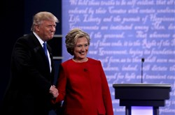 Democratic presidential nominee Hillary Clinton with Republican presidential nominee Donald Trump were all smiles prior to the Presidential Debate at Hofstra University in late September. But for many, the stress of the 2016 election is taking its toll.
