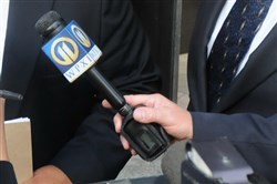 A WPXI microphone.