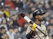 The Pirates' Andrew McCutchen stands on deck during a Sept. 29 game against the Chicago Cubs at PNC Park.