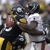 Mike Vick and the Atlanta Falcons tied Joey Porter and the Steelers in 2002.