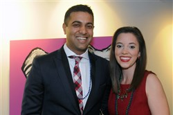 Event chairs Amit Grover with Kylie LaSota.