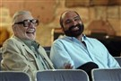 "Hall of Fame running back Franco Harris, right, was the subject of ""Good Luck on Sunday,"" one of the short films shot by Pittsburgh native George A. Romero, left, back in the 1970s."