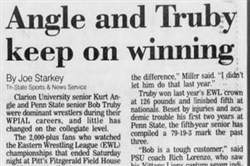 A look at Joe Starkey's first story in the Post-Gazette, from 1992.