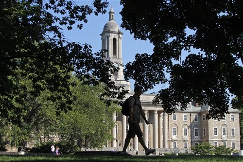 Among flagship public universities, the highest priced was Penn State's University Park campus at $17,900 in tuition and fees, followed by the University of New Hampshire at $17,620.